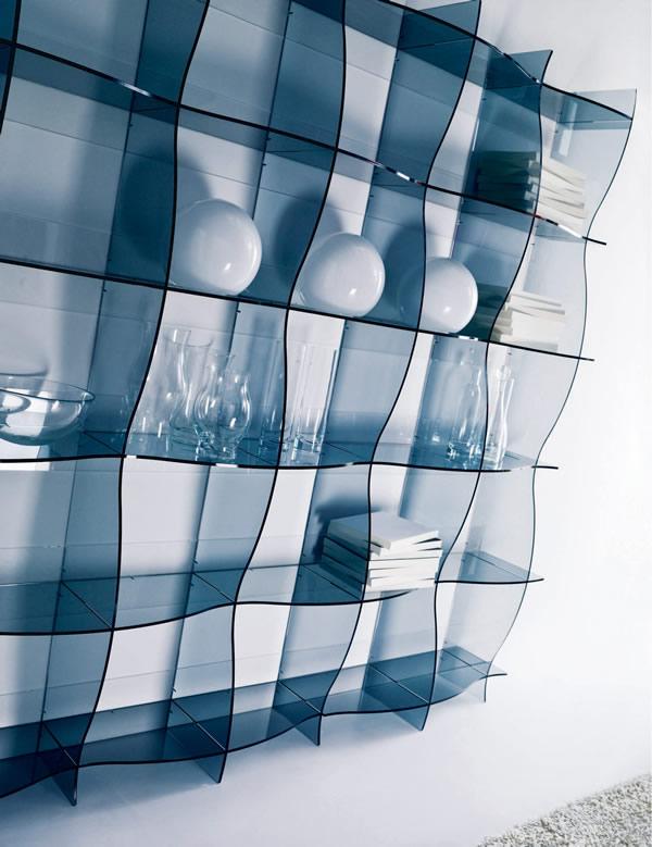 Etagere en verre moderne
