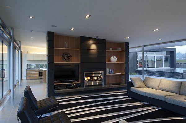 10 Salons Amnags Autour De La Chemine Moderne House