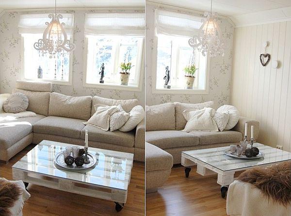 Table de salon avec vitre