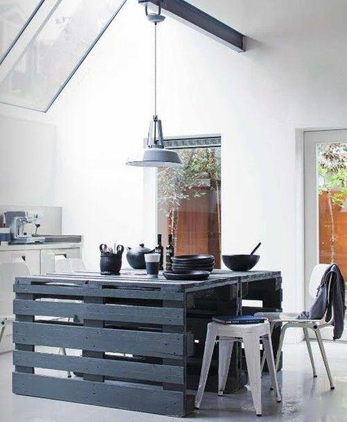 15 id es pour transformer des palettes en meuble design for Cuisine en palette