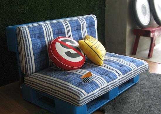 Le sofa en palettes
