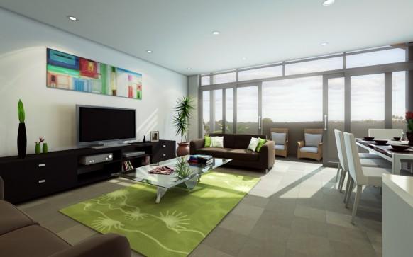 Salon avec télévision 2