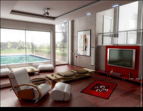Salons modernes am nag s autour de la t l vision moderne house 1001 photos inspirations - Salons modernes television ...