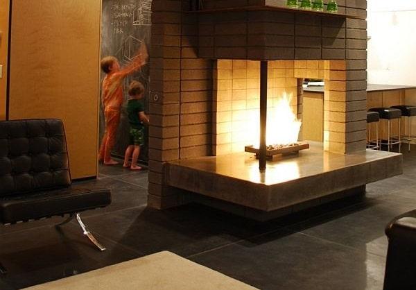 10 salons aménagés autour de la cheminée