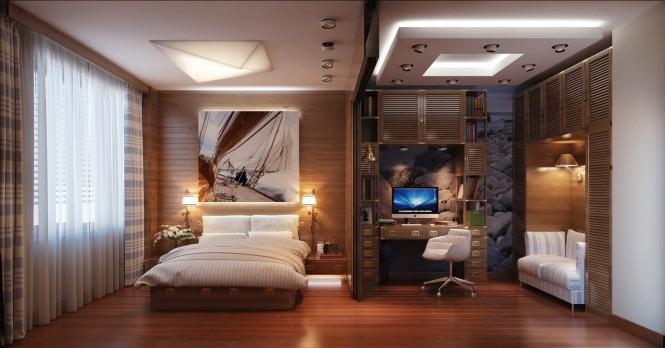 Chambre au décor bateau 1