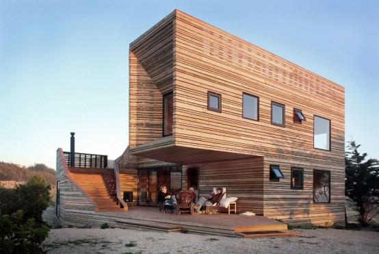 Chili une maison forteresse en bois tonnante d couvrir - Maison ecomo residence compacte integree paysage reve ...