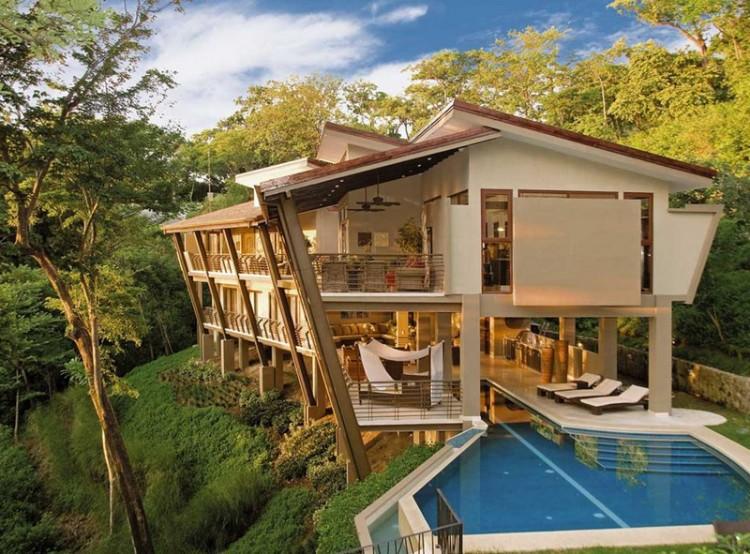 Costa rica une villa de luxe envo tante sur la c te for Piscine qui deborde