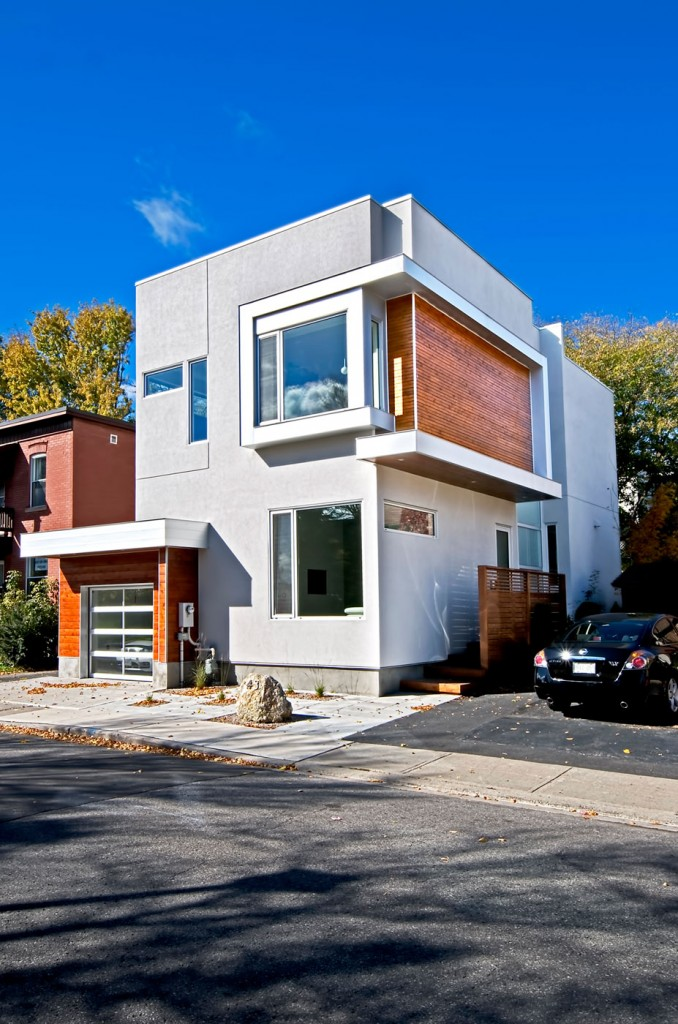 Un maison moderne ottawa par le studio linebox moderne for Salon 7 places modernes