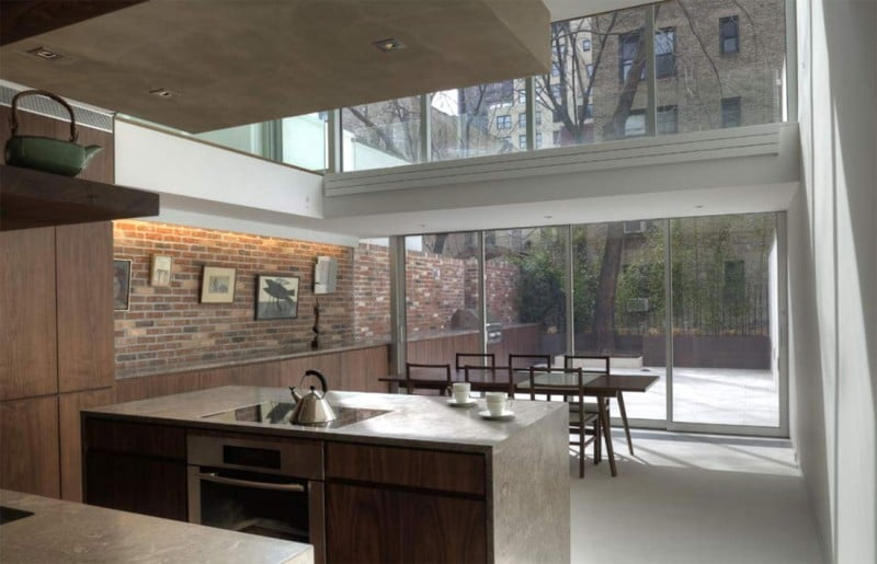 Etats Unis Une Maison Urbaine New York City Moderne
