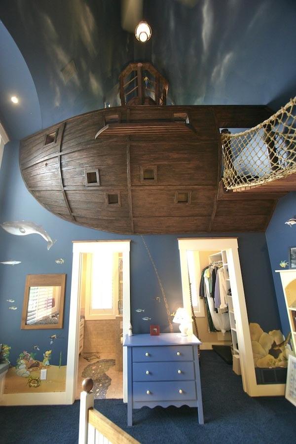 La chambre pirate pour les grands enfants