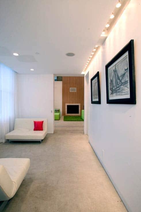 espace de vie du loft moderne