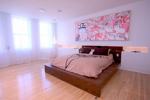 chambre du loft moderne