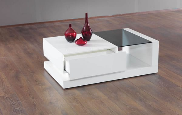La table basse bernica par n design - Table basse blanche moderne ...