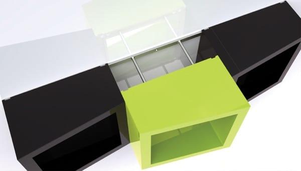 Etagère funky design 3d -3