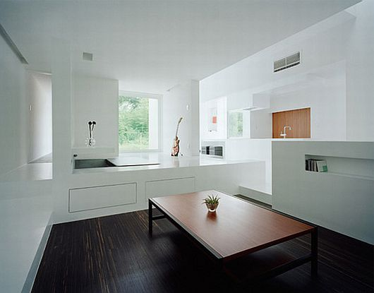 japon une maison ultra minimaliste blanche par koichi kimura. Black Bedroom Furniture Sets. Home Design Ideas