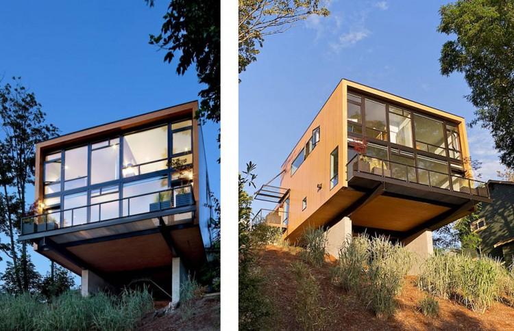 Amazing Maison Moderne Sur Terrain En Pente #10: Affordable La ...