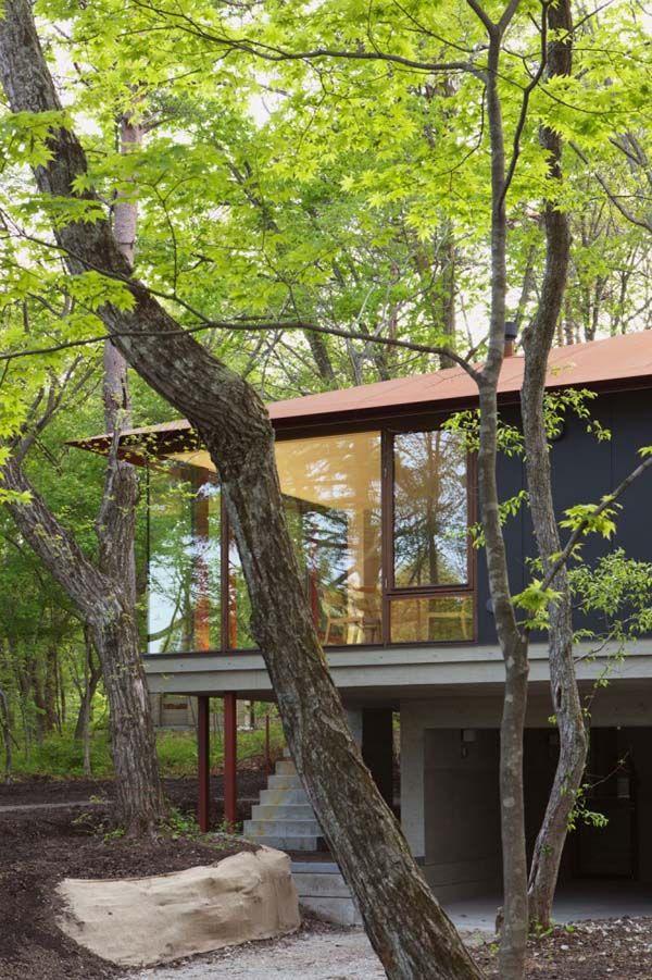 Japon la villa k contemporaine dans les collines de nagano - La contemporaine villa k dans les collines de nagano au japon ...