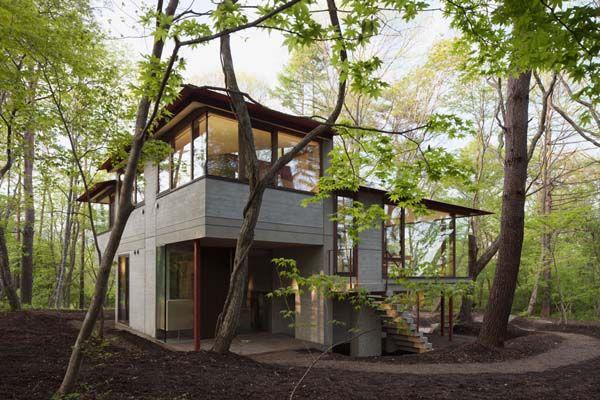 Japon la villa k contemporaine dans les collines de - La contemporaine villa k dans les collines de nagano au japon ...