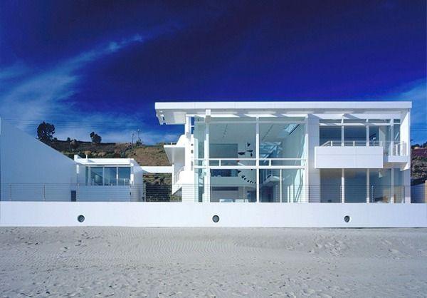 Une sublime maison blanche la plage en californie - Sublime maison blanche de la plage en californie ...