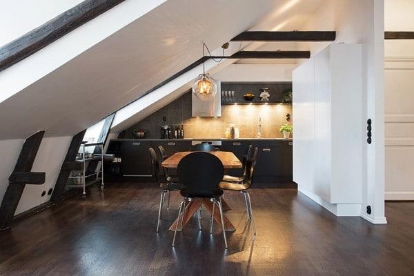 Appartement mansardé en Suède 1