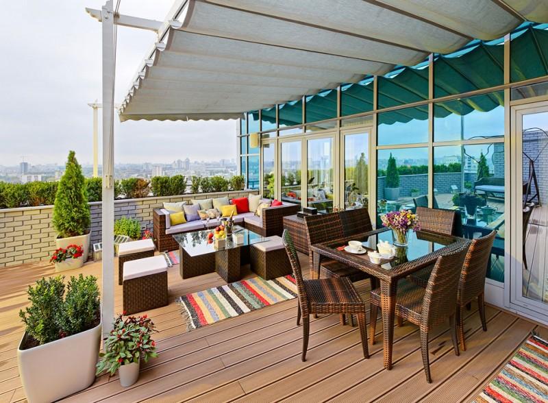 Moderne Terrasse un sublime appartement avec terrasse à kiev