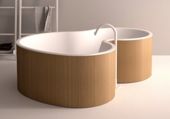 une baignoire moderne et luxueuse. Black Bedroom Furniture Sets. Home Design Ideas
