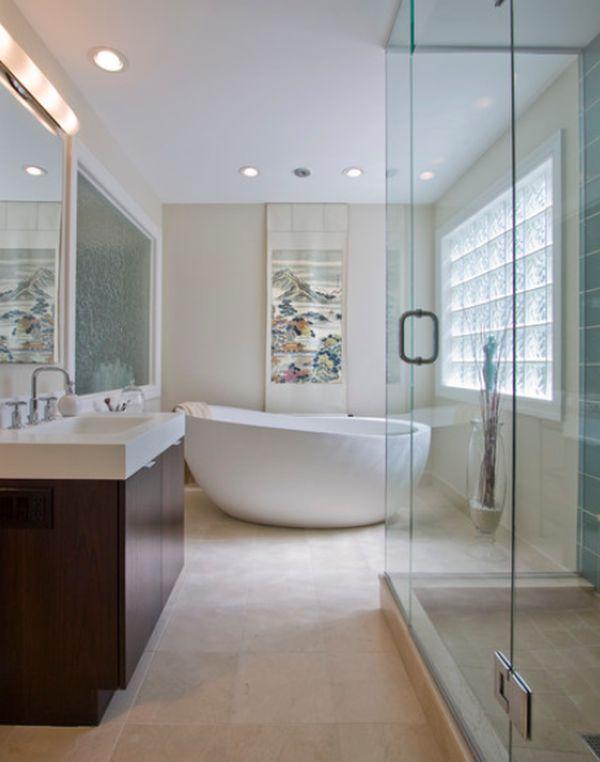 baignoire en ilot design - Salle De Bain Avec Baignoire Ilot