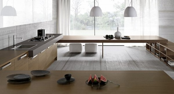 Une s lection de cuisines minimalistes de chez comprex for Cuisine zen