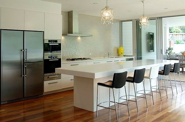 De belles id es d 39 clairage de cuisine moderne house 1001 photos amp - Idee eclairage cuisine ...