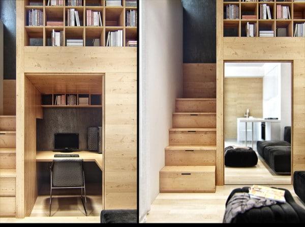 Ukraine un petit appartement bourr d 39 astuces de rangements - Petit appartement dote dun confortable espace de rangement ...