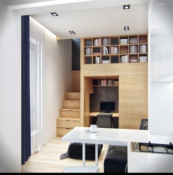 Petit appartement avec espaces de rangements 9