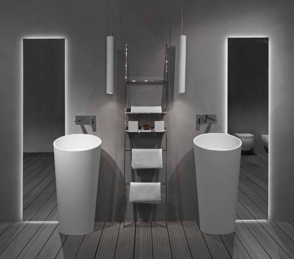 une salle de bain futuriste moderne house 1001 photos inspirations maison et jardin. Black Bedroom Furniture Sets. Home Design Ideas