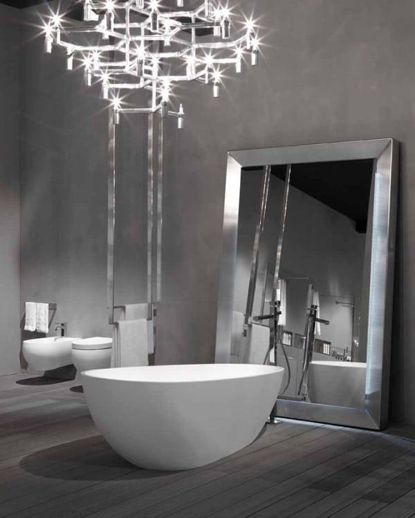 une salle de bain futuriste moderne house 1001 photos inspirations maison et jardin. Black Bedroom Furniture Sets. Home Design Ideas