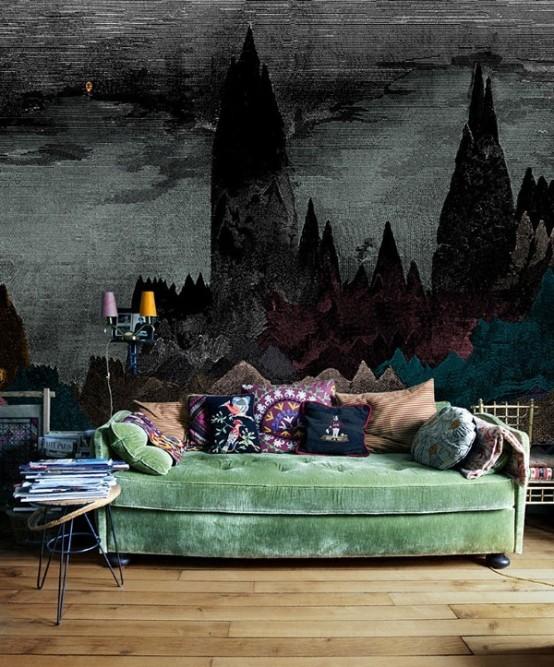 Décoration salon gothique 1