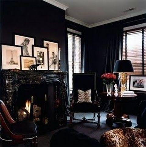 Décoration salon gothique 13