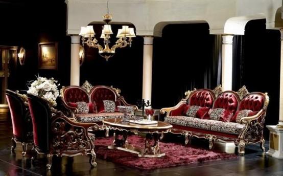 Décoration salon gothique 15