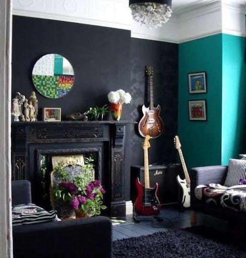Décoration salon gothique 16