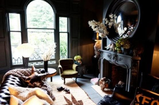 Décoration salon gothique 18