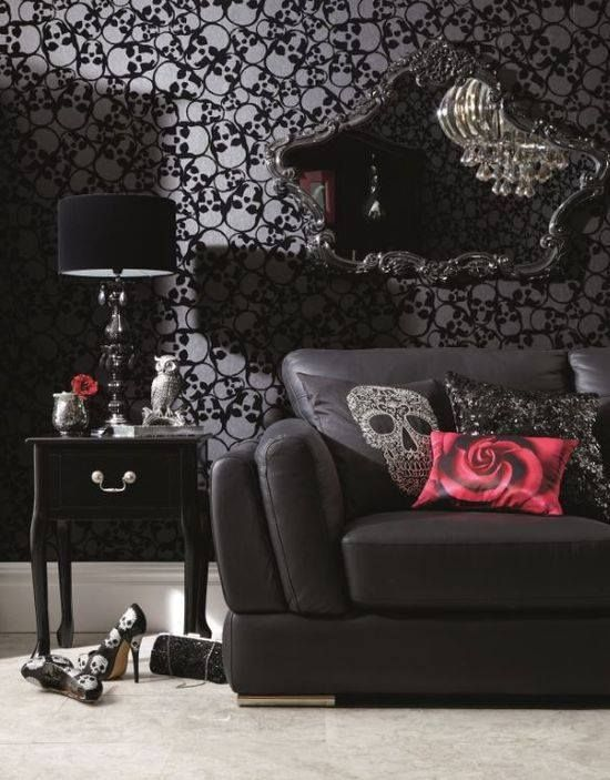 18 d corations de salons gothiques. Black Bedroom Furniture Sets. Home Design Ideas