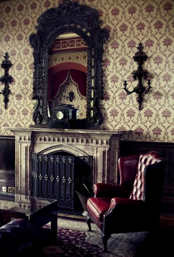 18 décorations de salons gothiques  Moderne House  1001 photos & inspir