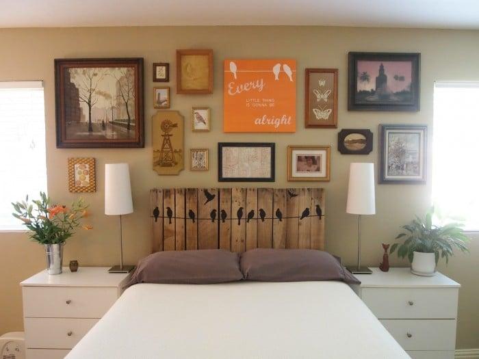 Tête de lit en palette: 20 idées étonnantes pour un style rustique (MAJ 2018)