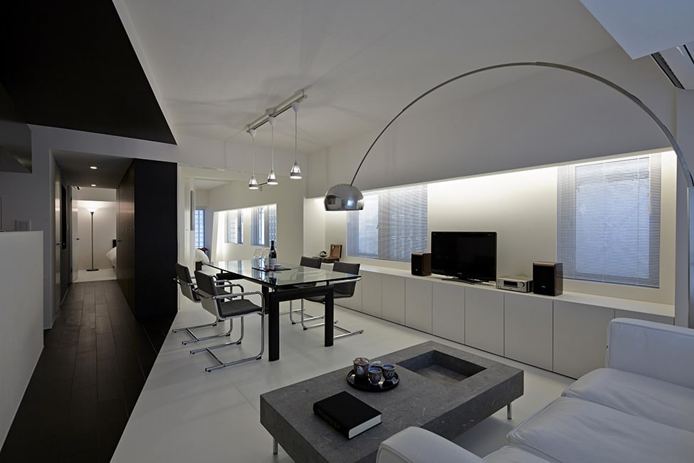 Japon l 39 appartement room 407 black and white - The wing house maison ailee en australie ...