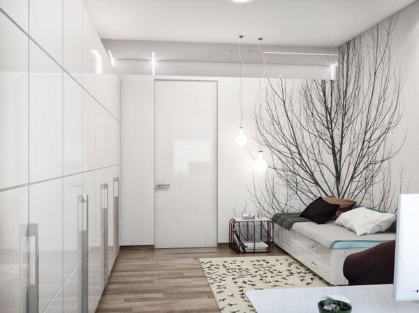 Appartement ukrainien ingénieusement compartimenté 11