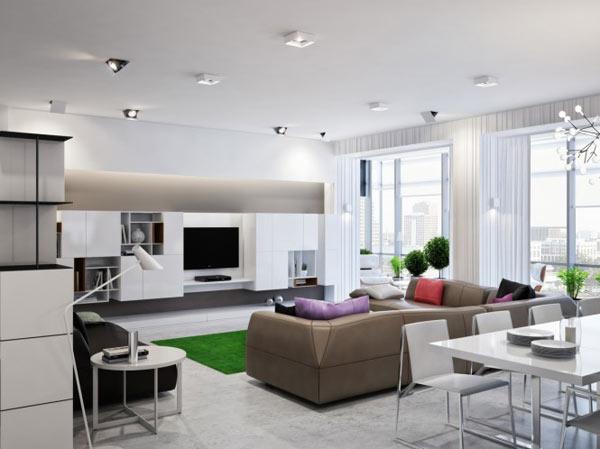 Appartement ukrainien ingénieusement compartimenté 2