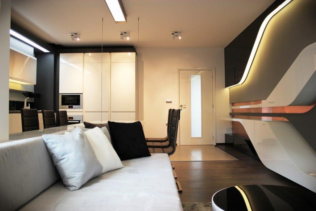 Bulgarie l 39 appartement futuriste de yovo bozhinovski for Appartement ultra design