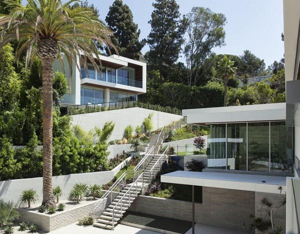 Etats unis une villa contemporaine somptueuse sur sunset - Architecture interieurs contemporains sunset strip ...