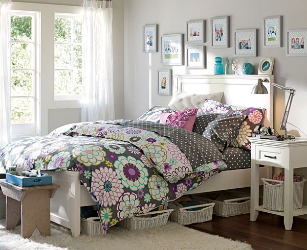 55 id es de design de chambres pour adolescentes moderne house 1001 photos inspirations for Chambre vintage ado fille