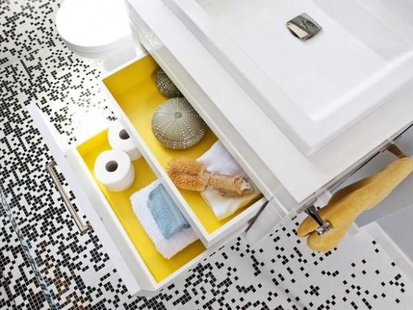 30 id es et astuces de rangement pour la salle de bain. Black Bedroom Furniture Sets. Home Design Ideas