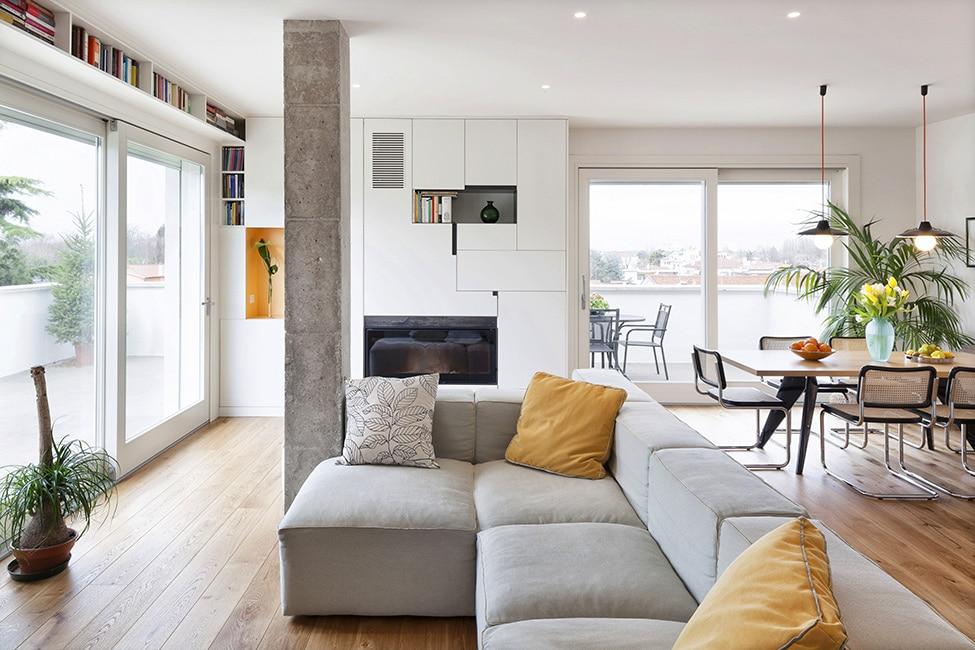 Italie le b ton l 39 honneur pour un int rieur moderne et inspirant - Interieur moderne inspirant piliers en beton ...