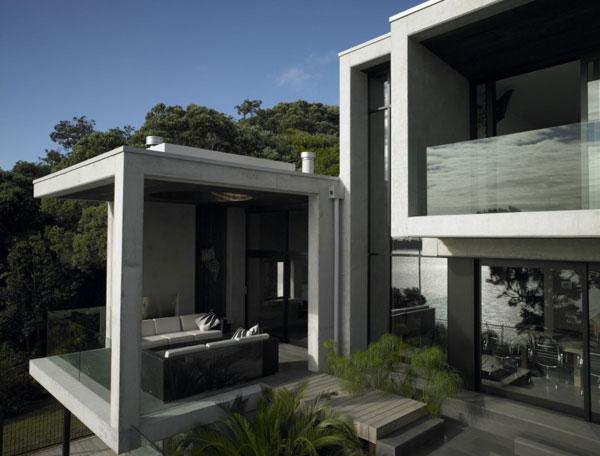 Maison Contemporaine En Beton Karaka Bay En Nouvelle Zelande ...